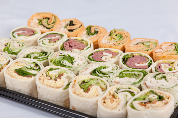 bite sized mixed wraps platter