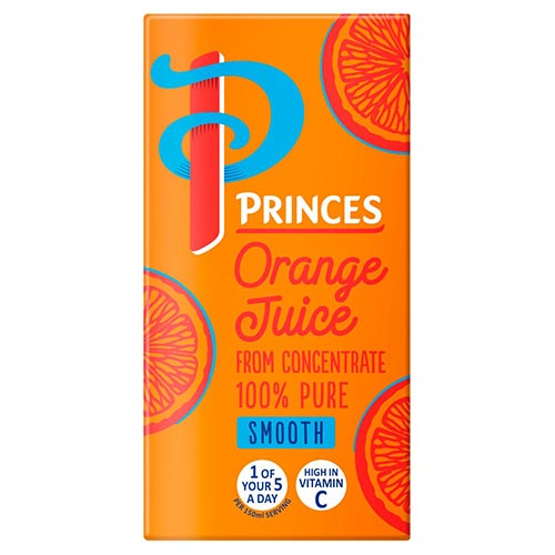 Princes 100% Pure Orange Juice 200ml